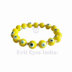 Evil Eye Bracelet - Yellow for Optimism