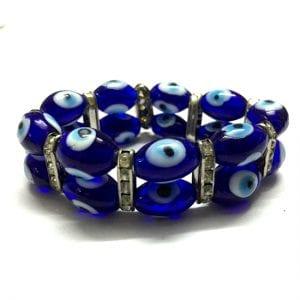 Double Protection Bracelet – 2 Tier Evil Eyes