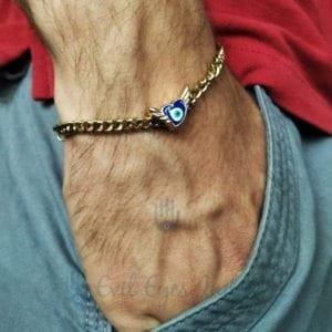 Evil Eye Winged Bracelet In Chain