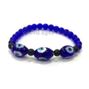 3 Beaded Evil Eye Bracelet
