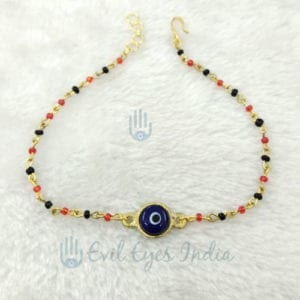 Evil Eyes Anklet Golden for Women