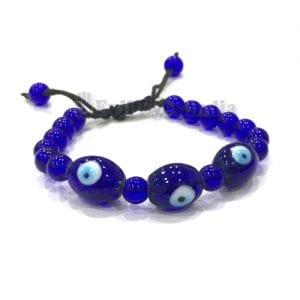 Authentic 3 Beaded Evil Eye Bracelet