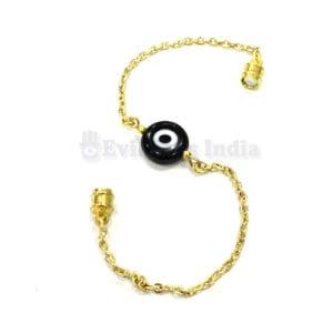 Genuine Brown Evil Eye Bead Chain Bracelet