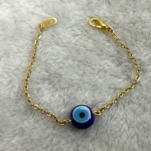 Chain Evil Eye Bracelet with Classic Round Bead