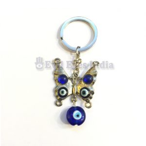 Cute Butterfly Evil Eye Keychain