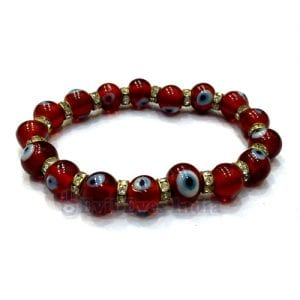 Deep Red Evil Eye Bracelet
