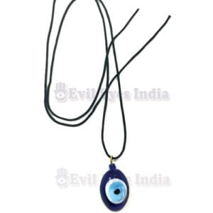 Oval Evil Eye Pendant