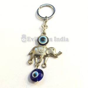Elephant Evil Eye Keychain