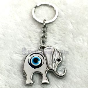 Good Luck Elephant Evil Eye Keychain