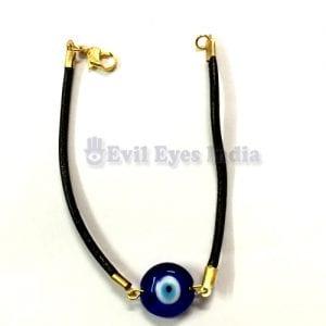 Evil Eye Bracelet with Leather String
