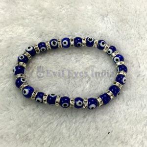 Evil Eyes Bracelet with Silver Zircons