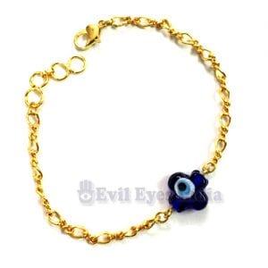 Petal Bead in Golden Chain Bracelet