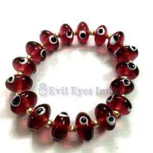 Evil Eye Bracelet with Roundell Beads
