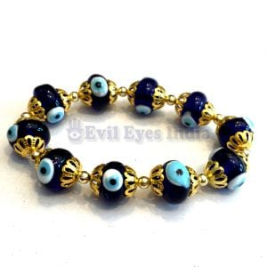 Evil Eye Bracelet with Golden accessories