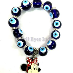 Evil Eye Bracelet with Minnie Mouse
