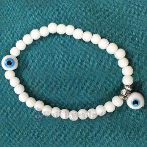 White Evil Eye Bracelet