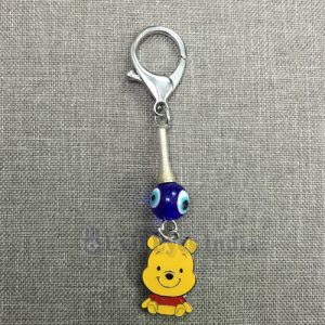 Cute Pooh Baby Keychain with Evil Eye
