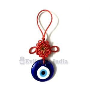 Evil Eye Hanging with Mystic Knot Symbol