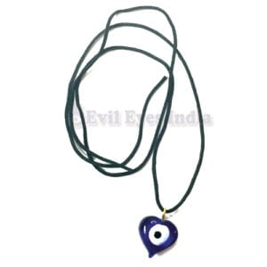 Evil Eye Heart Shaped Pendant
