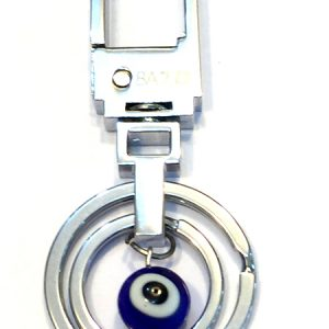 Silver Coloured Evil Eye Key Hook