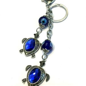 Evil Eye Turtle Keychain