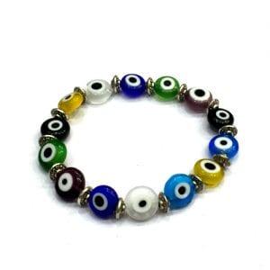 Multi-Coloured Evil Eyes Bracelet