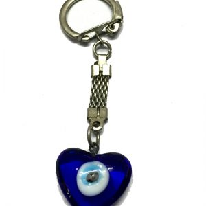 Evil Eye Keychain-Heart Shaped