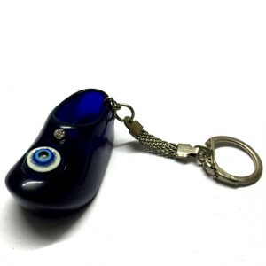 Evil Eye Shoe Shaped Keychain
