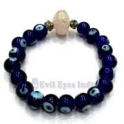 Rose Quartz with Evil Eye Bracelet