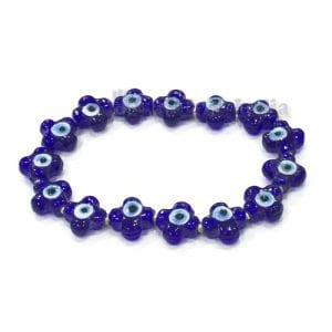 Petal Shaped Evil Eye Beads Bracelet
