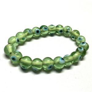 Evil Eye Bracelet - Green Success Beads