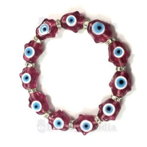 Authentic Hamsa Hand with Evil Eyes Bracelet