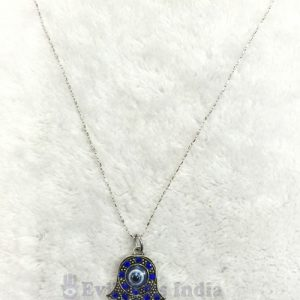 Hamsa Hand Pendant with Chain