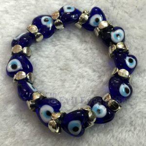Heart Shaped Evil Eyes Bracelet