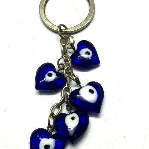 Bunch of Heart Shaped Evil Eyes Keychain