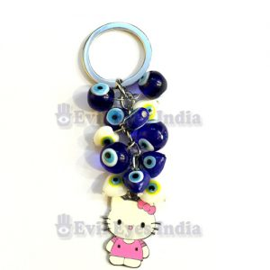 Evil Eye Trinkets Keychain with Hello Kitty