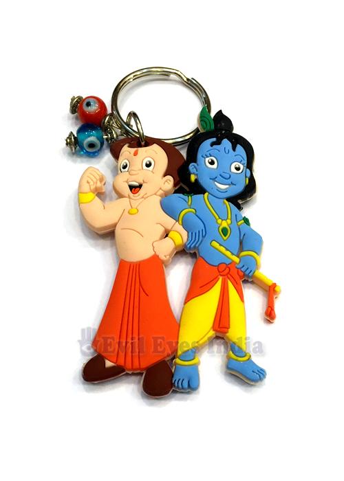 krishna chota bheem evil eye keychain evil eyes india
