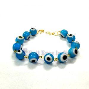 Light Blue Premium Evil Eye Bracelet