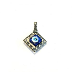 Metallic Evil Eye Pendant