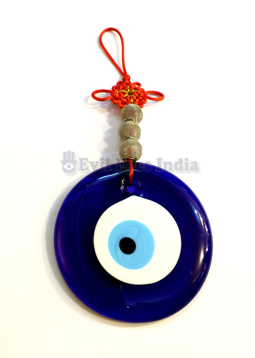Evil Eye Hanging With Mystic Knot Big Silver Deco Evil Eyes India
