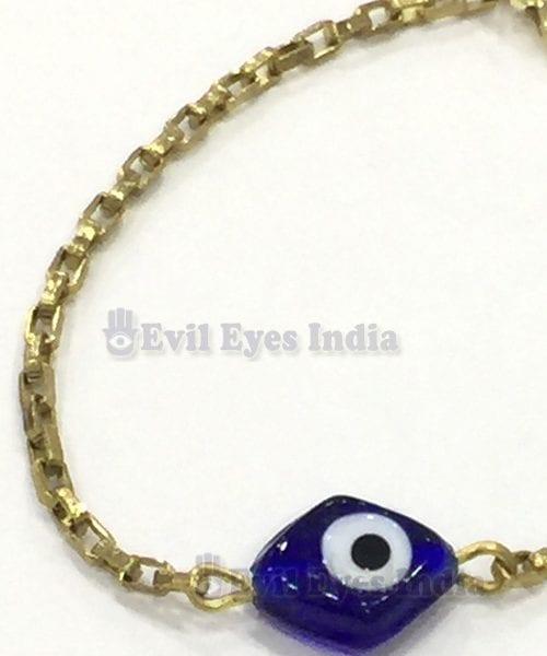 Vintage Gold Coloured Evil Eye Bracelet