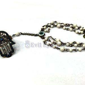 Oxidized-Hamsa-Hand-Bracele