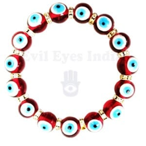 Purple Evil Eyes Bracelet