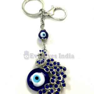 Cute Peacock Evil Eye Keychain