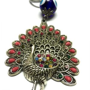 Feng Shui Peacock with Evil Eye Bead