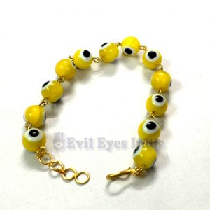 Premium Evil Eyes Bracelet Yellow