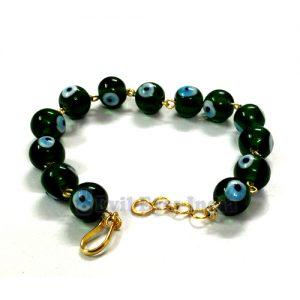 Premium Evil Eye Bracelet Deep Green