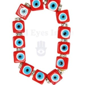 Red Evil Eyes Bracelet for Courage & Protection