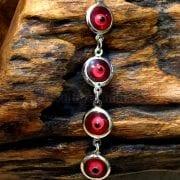 Silver Plated Evil Eye Bracelet Red