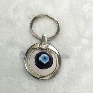 Round Evil Eye Keychain